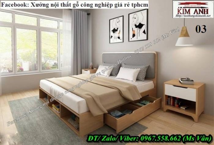 bộ giường ngủ gỗ công nghiệp học kéo tiện dụng q3 q95
