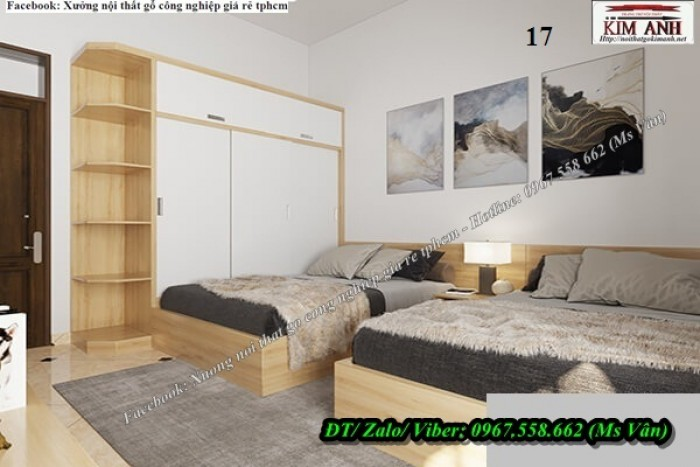 Bộ phòng ngủ gỗ công nghiệp sang trọng cực đẹp 9