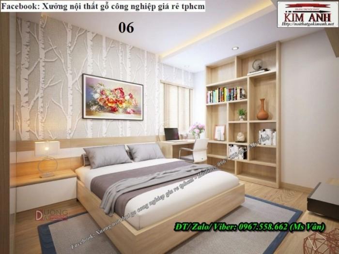 Xưởng đóng giường ngủ gỗ MFC đẹp hiện đại 14