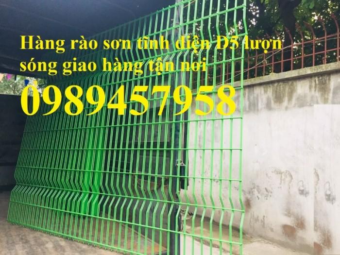 Hàng rào lưới thép hàn sơn tĩnh điện phi 5 ô 75x200 và 50x2500