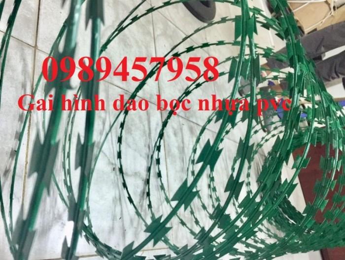 Dây thép gai hình dao bọc PVC, dây gai bọc nhựa giá tốt2