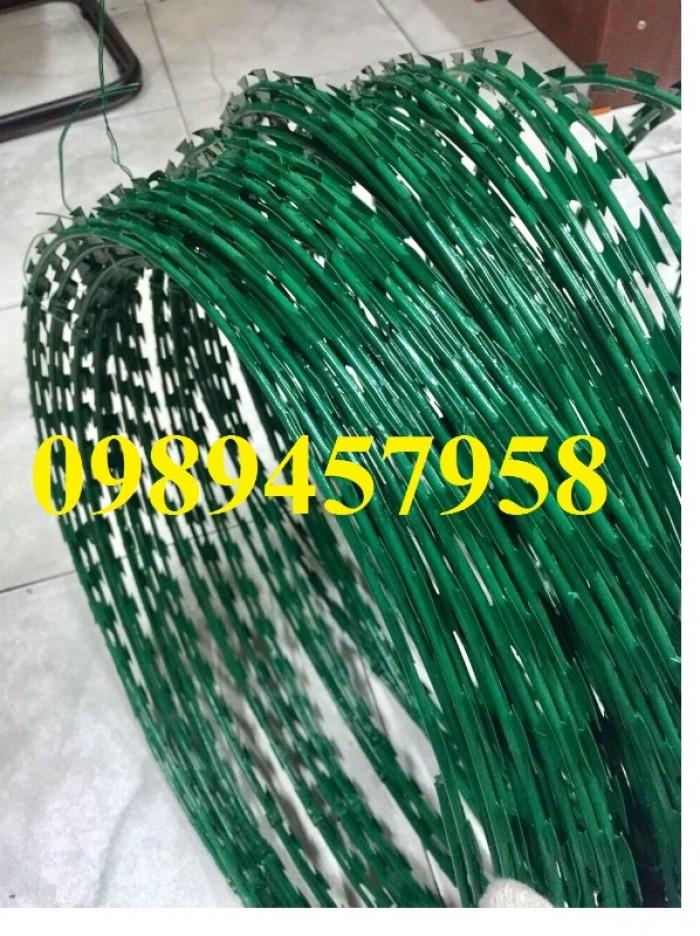 Dây thép gai hình dao bọc PVC, dây gai bọc nhựa giá tốt3