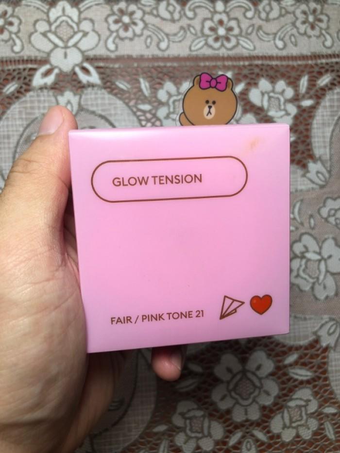 Phấn nước trang điểm Glow Tension Missha phiên bản hình Gấu Brown1