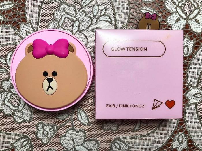 Phấn nước trang điểm Glow Tension Missha phiên bản hình Gấu Brown0