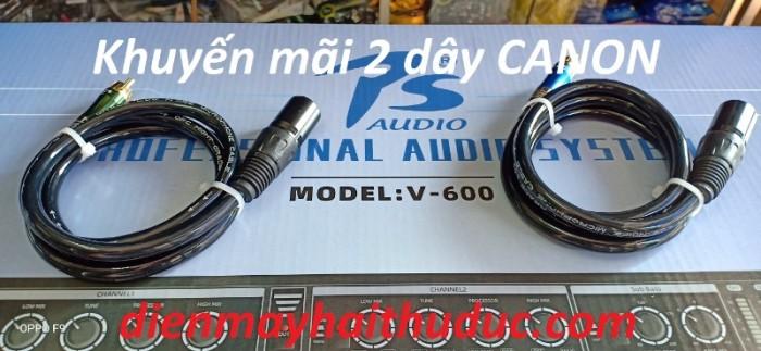 Mua Nâng tiếng PS Audio-V600 tại Điện Máy Hải khuyến mãi bộ đôi dây Canon chuyên xài cho máy nâng tiếng Idol4