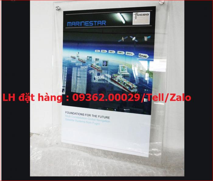 Khung poster A4 treo tường chất liệu mica, gia công theo mẫu mã yêu cầu