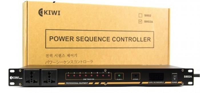 Quản lý nguồn điện Kiwi S802A dùng để tránh tình trạng sốc điện cho các dàn âm thanh khi bật/ tắt 1