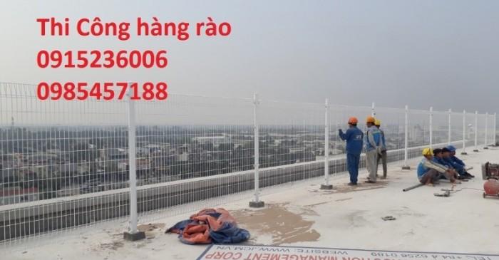 Lưới thép hàng rào phi 5 ô 50x150 mạ kẽm sơn tĩnh điện, nhúng nhựa pvc gập tam giác 2 đầu, lượn sóng1