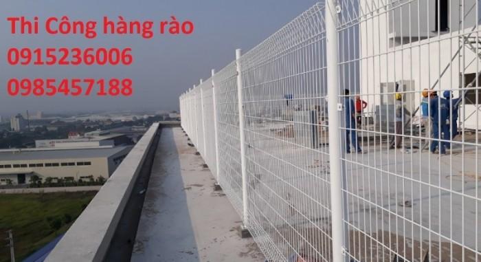 Lưới thép hàng rào phi 5 ô 50x150 mạ kẽm sơn tĩnh điện, nhúng nhựa pvc gập tam giác 2 đầu, lượn sóng2