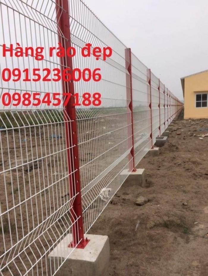 Lưới thép hàng rào phi 5 ô 50x150 mạ kẽm sơn tĩnh điện, nhúng nhựa pvc gập tam giác 2 đầu, lượn sóng3
