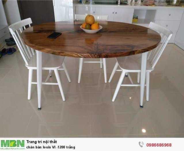 Chân bàn louis VI -1200 trắng