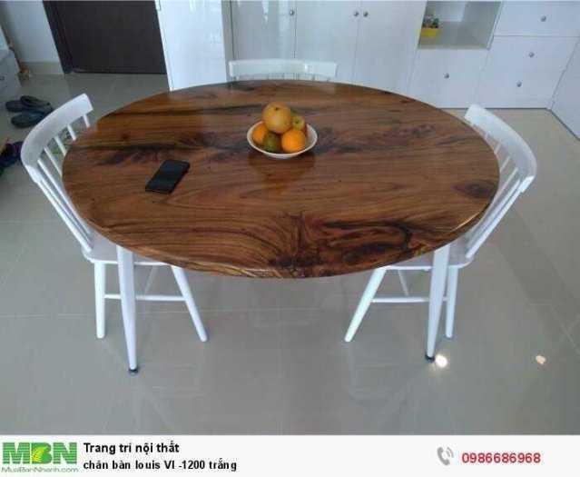 Chân bàn louis VI -1200 trắng1