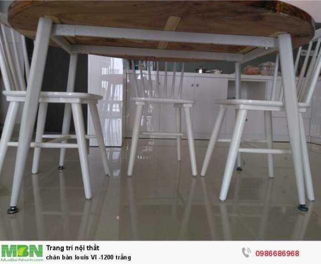 Chân bàn louis VI -1200 trắng2