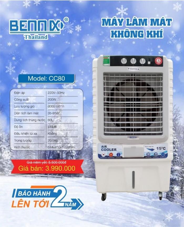 Quạt điều hòa làm mát không khí Bennix hàng chính hãng bảo hành 2 năm0
