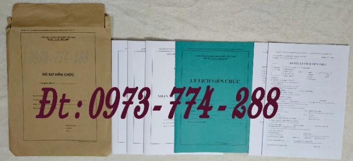 Bộ hồ sơ cán bộ viên chức, công chức có các loại mẫu1