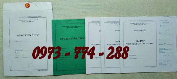 Bộ hồ sơ cán bộ viên chức, công chức có các loại mẫu2