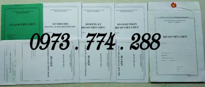 Bộ hồ sơ cán bộ viên chức, công chức có các loại mẫu3