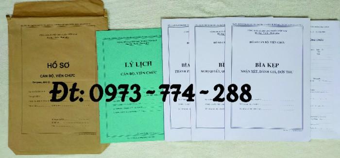 Bộ hồ sơ cán bộ viên chức, công chức có các loại mẫu5