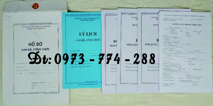 Bộ hồ sơ cán bộ viên chức, công chức có các loại mẫu7