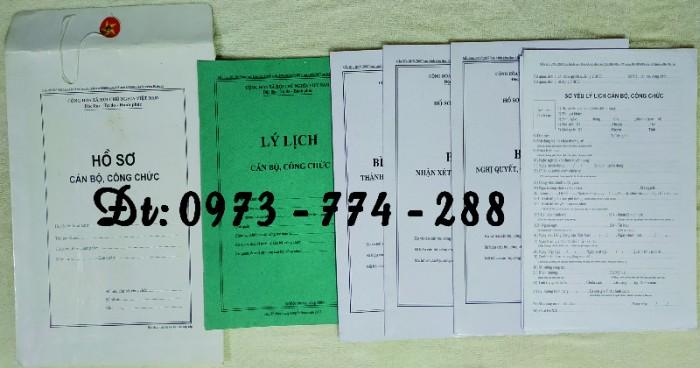 Bộ hồ sơ cán bộ viên chức, công chức có các loại mẫu8