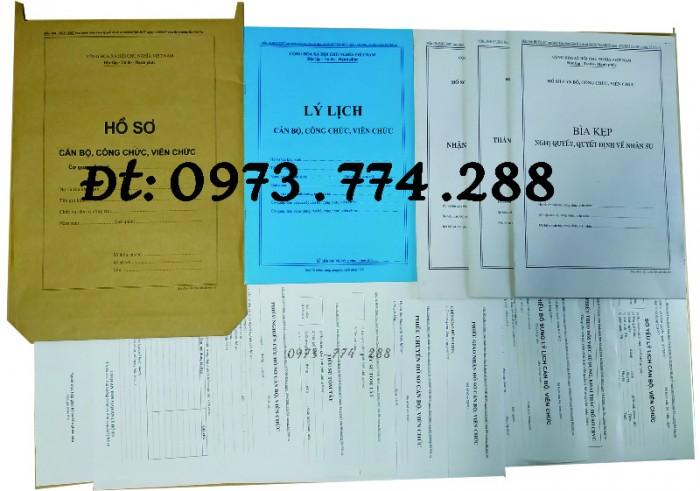 Bộ hồ sơ cán bộ viên chức, công chức có các loại mẫu10