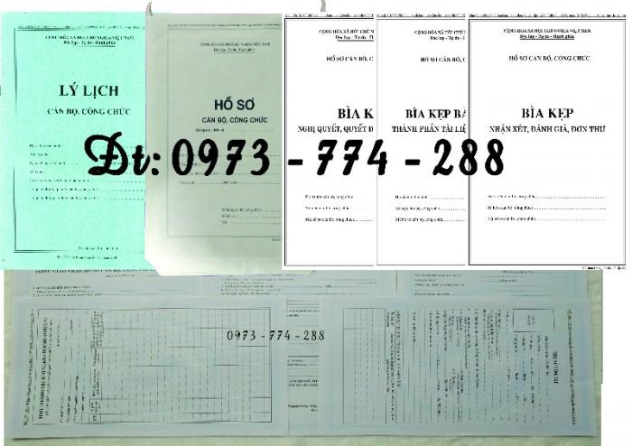 Bộ hồ sơ cán bộ viên chức, công chức có các loại mẫu12