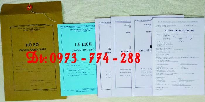Bộ hồ sơ cán bộ viên chức, công chức có các loại mẫu13