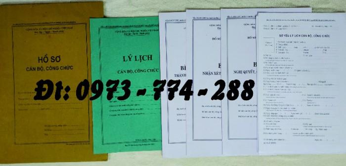 Bộ hồ sơ cán bộ viên chức, công chức có các loại mẫu14