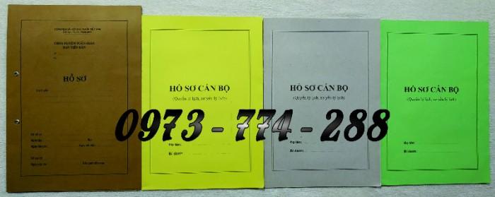 Bộ hồ sơ cán bộ viên chức, công chức có các loại mẫu15