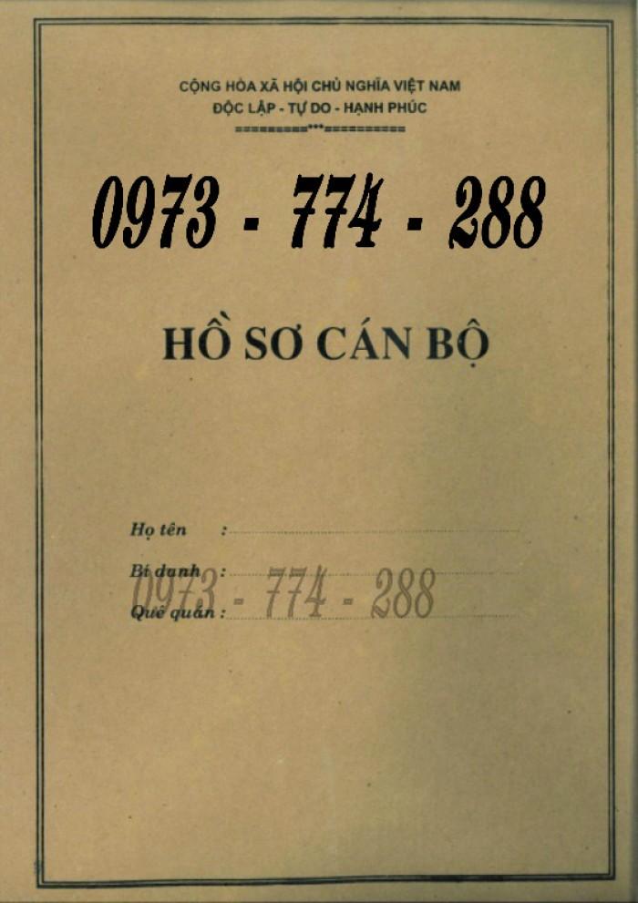 Bộ hồ sơ cán bộ viên chức, công chức có các loại mẫu19