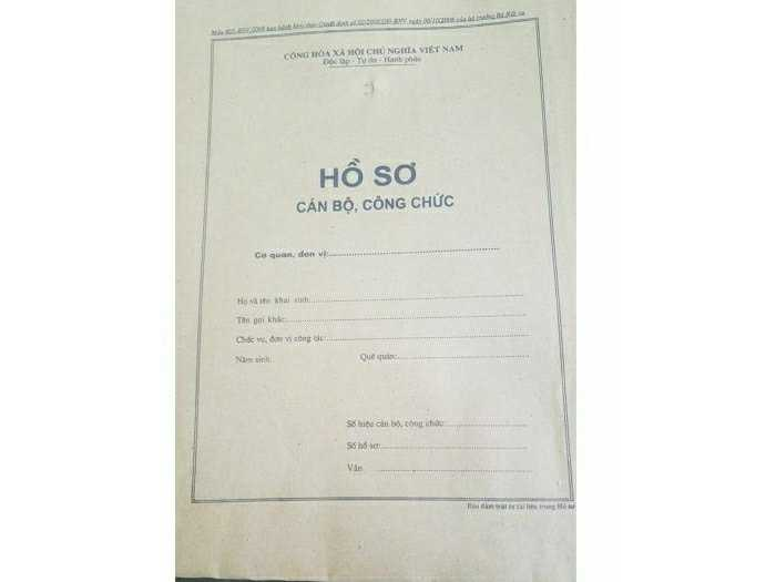 Túi hồ sơ công chức/ bìa hồ sơ công chức0