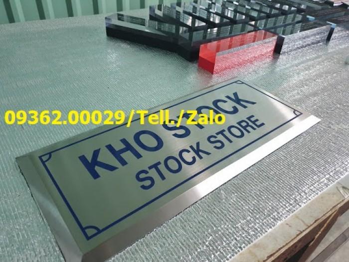 Cơ sở nhận sản xuất theo yêu cầu các loại biển phòng ban mica, inox