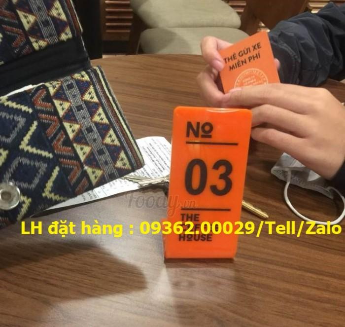 Biển số bàn inox , mica lựa chọn làm theo yêu cầu