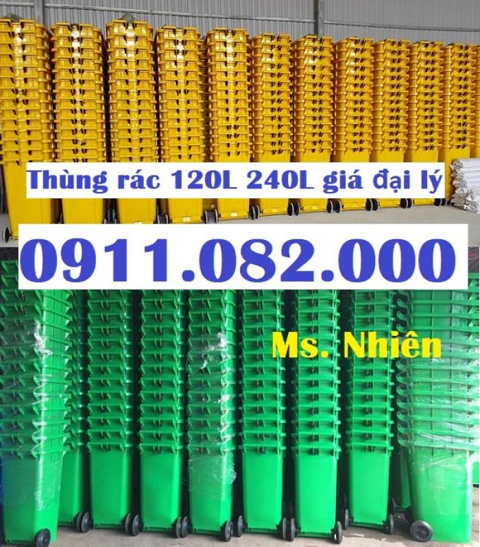 Thùng rác 240 lít giá rẻ- lh 0911.082.000- Ms Nhiên0