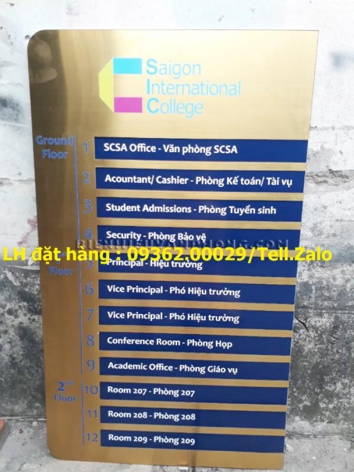 Cung cấp các loại biển chỉ dẫn tòa nhà chất liệu inox, mica