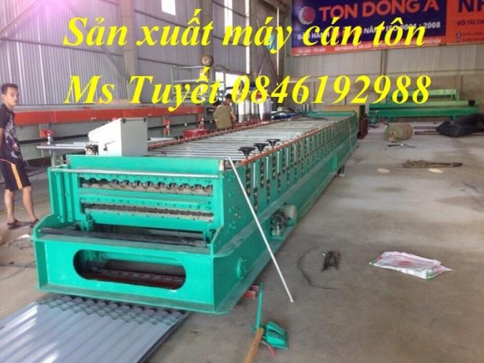 Chuyên sản xuất máy cán tôn 3 tầng, giao hàng tận nơi, lắp đặt miễn phí0