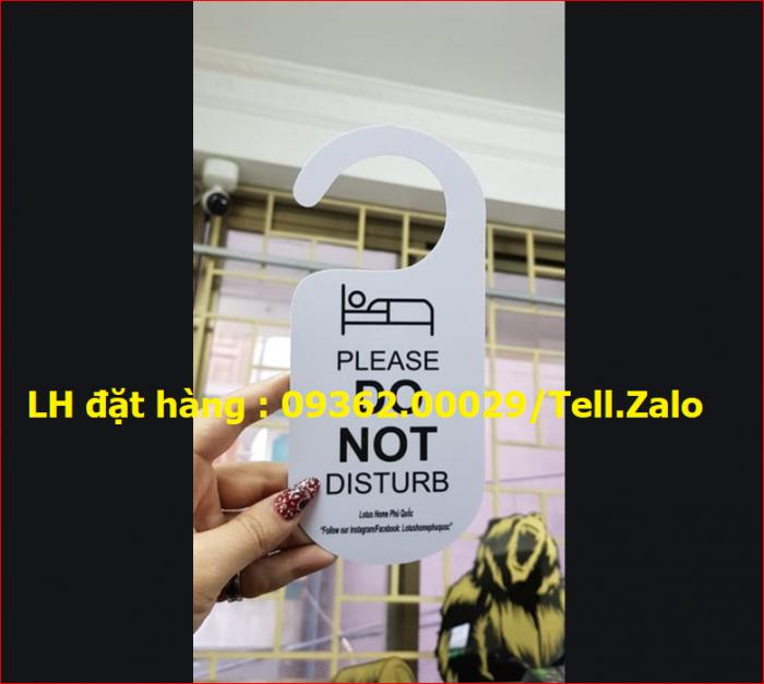 Cung cấp Biển hiệu không làm phiền, bảng hiệu treo trước cửa phòng khách sạn,