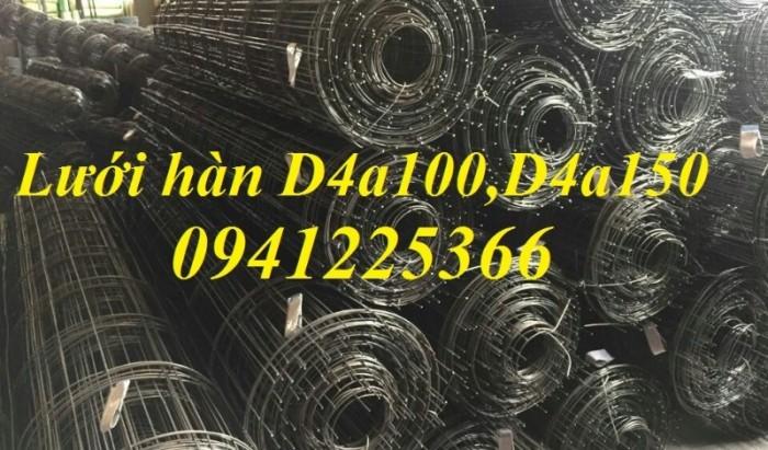 Lưới thép hàn D4a200x200 dạng cuộn khổ 2mx25m,dạng tấm ,làm theo yêu cầu4