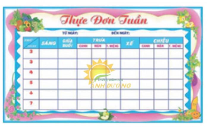 Chuyên bảng biểu, bảng tuyên truyền, bảng thông tin cho trường lớp mầm non2