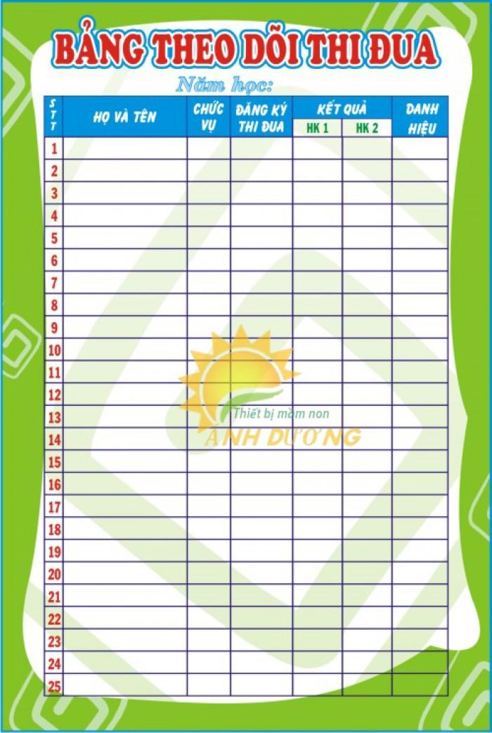 Chuyên bảng biểu, bảng tuyên truyền, bảng thông tin cho trường lớp mầm non12