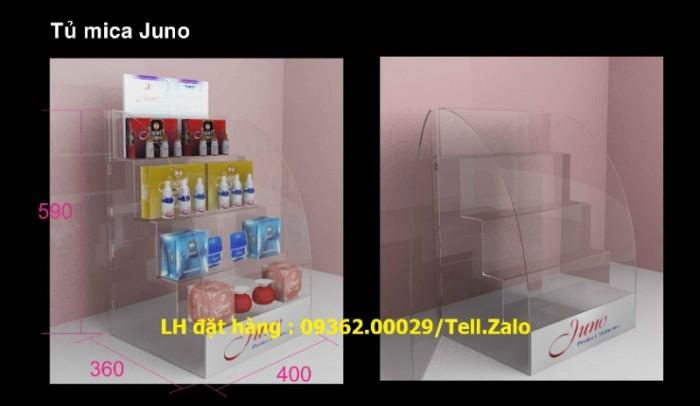 CUng cấp kệ trưng bày mỹ phẩm chất liệu mica để bàn , treo tường