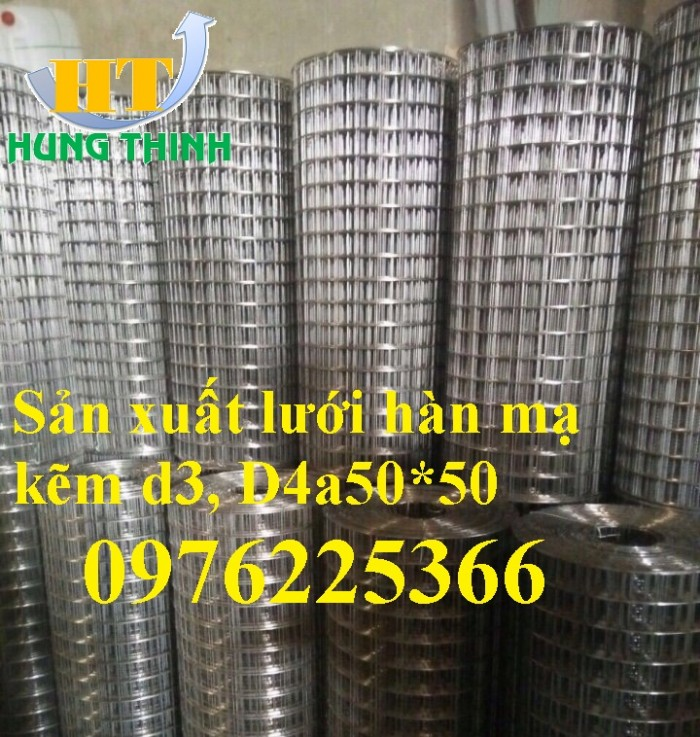 Lưới thép mạ kẽm ô 25x25mm,30x30mm, 50x50mm, 100x100mm4