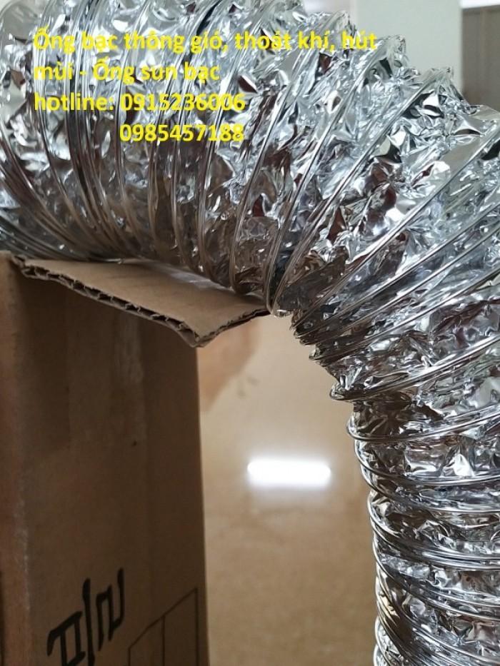 Ống bạc thông gió, thoát khí, hút mùi - Ống sun bạc phi 150, phi 200, phi 3004