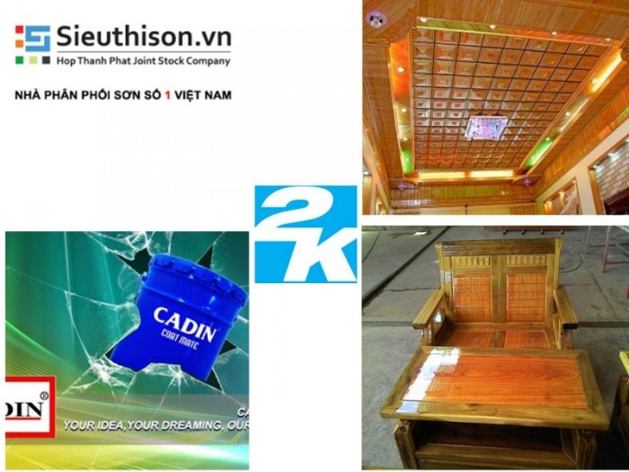 sơn 2K CADIN cho gỗ, bê tông0