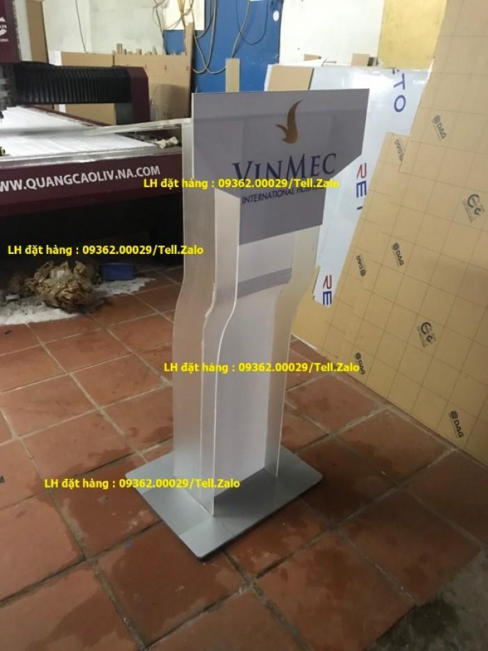 Sản xuất bục phát biểu mica theo yêu cầu giá rẻ14