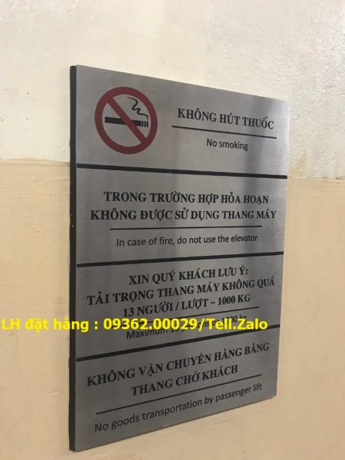 Biển báo cấm hút thuốc bằng mica, inox , đồng treo tường hoặc để bàn13