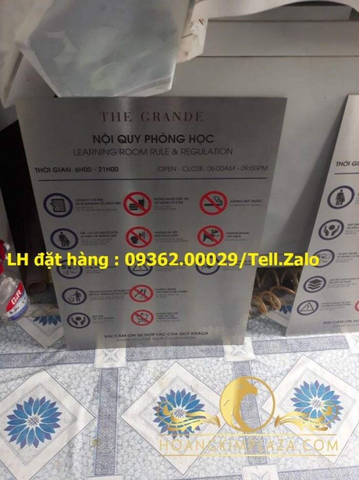Biển báo cấm hút thuốc bằng mica, inox , đồng treo tường hoặc để bàn12