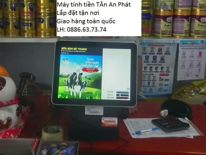 Lắp đặt tận nơi combo máy tính tiền tại Vũng Tàu cho quán Trà Chanh0