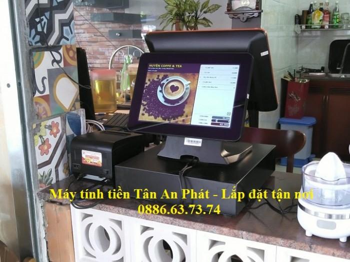 Lắp đặt tận nơi combo máy tính tiền tại Vũng Tàu cho quán Trà Chanh1
