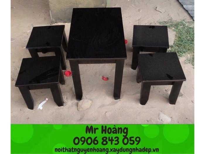 Bộ bàn ghế gỗ caosu giá rẻ0